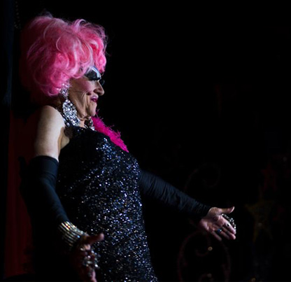 Pamplin Media Group file photo, Kit Macavoy. The legendary Darcelle is the Portland female impersonator also known as Walter Cole, and a big musical by Triangle Productions tells their story.