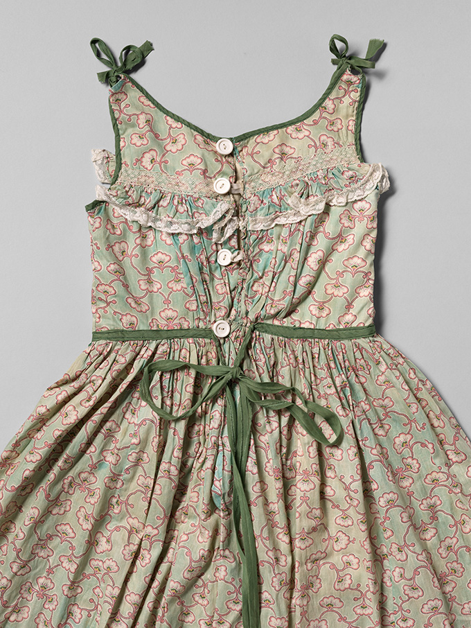 Back view of the pinafore. OHS Museum 2009-51.1