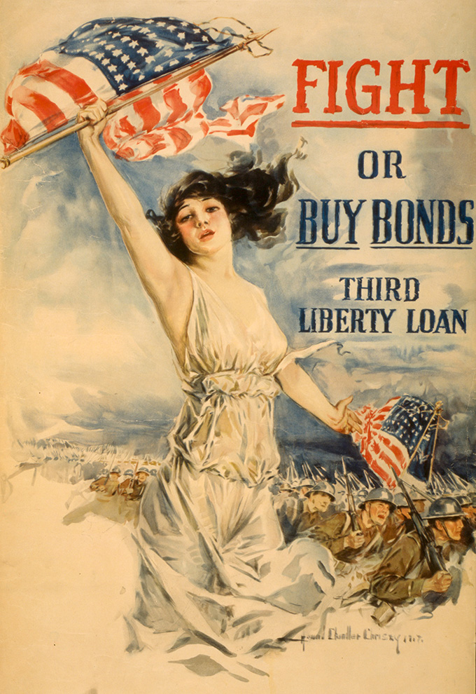 Third Liberty Loan poster, 1918. Library of Congress, 3g09735u
