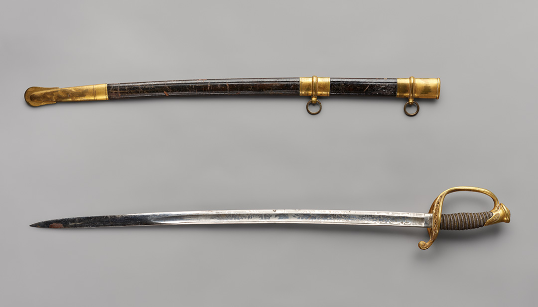 Sword owned by Cyrus H. Walker, OHS Museum, 570.1,.2, photograph by Robert Warren.