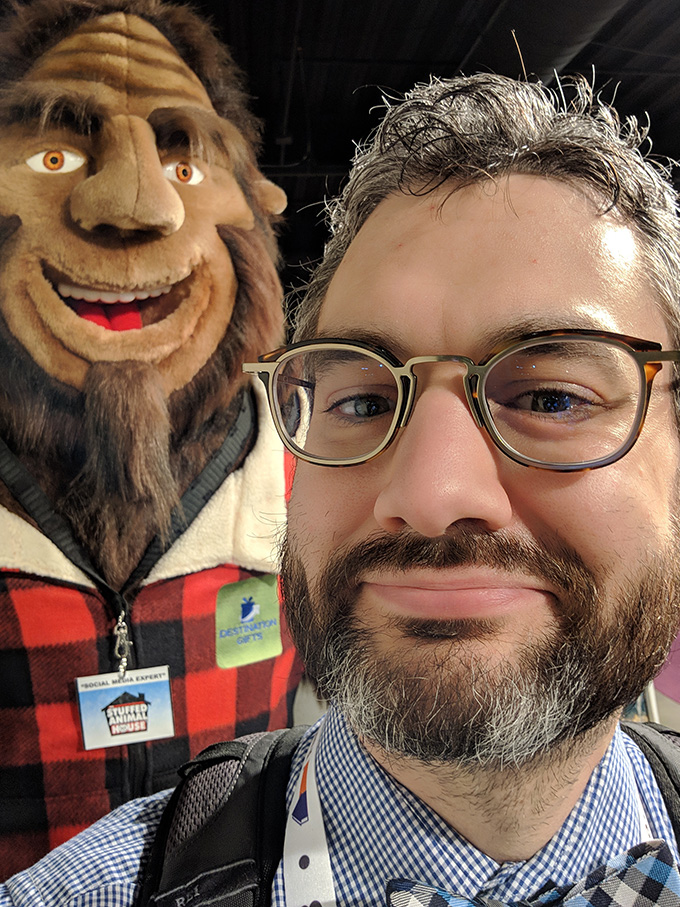 Andrew VanDerZanden and Squatch at the Las Vegas Market, January 2019.