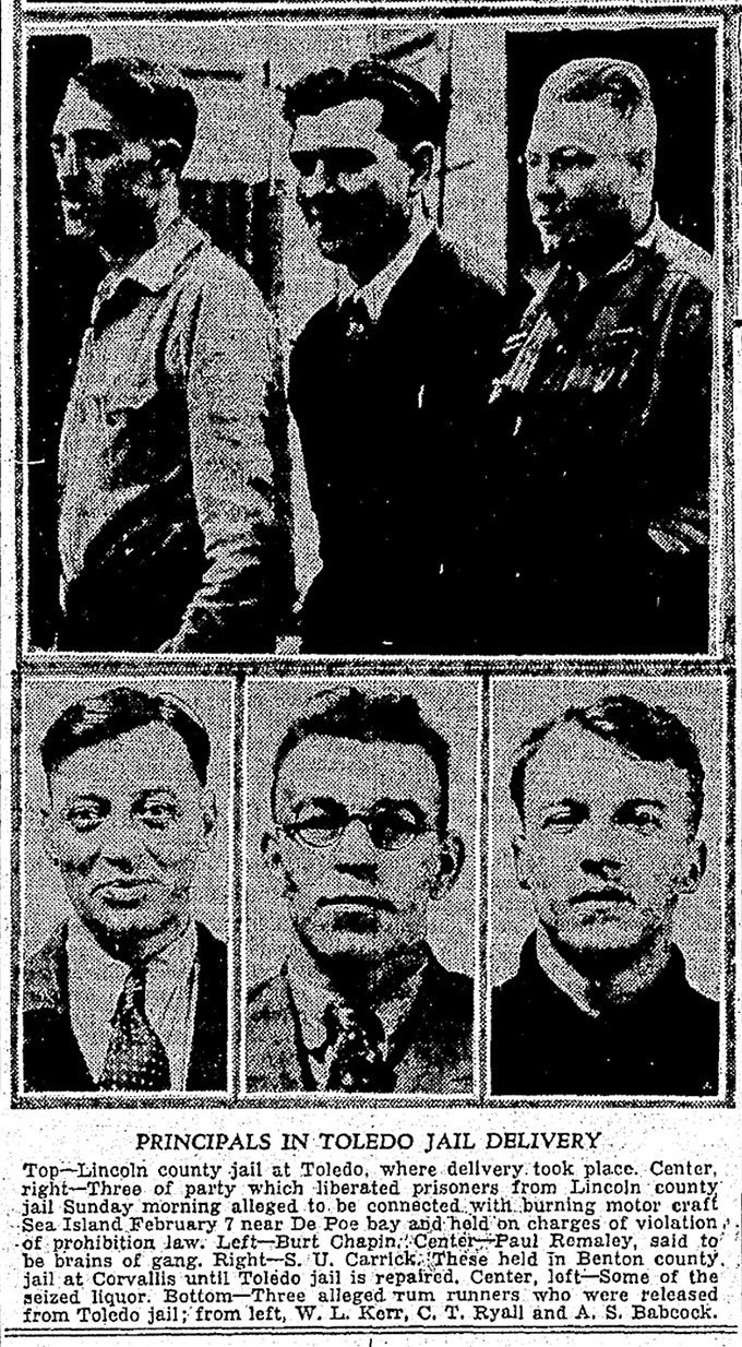 """Principals in Toledo Jail Delivery,"" Oregonian, March 22, 1932."