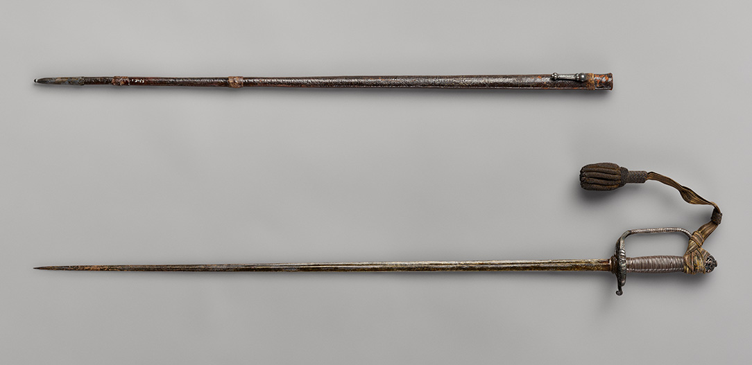 Sword owned by Thomas Pope, OHS Museum, 5345.1,.2, photograph by Robert Warren.