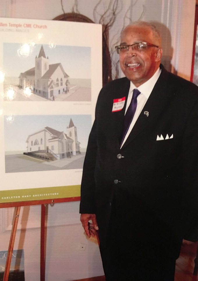 Rev. Dr. LeRoy Haynes in 2018. Photograph by the Allen Temple-CME Church.