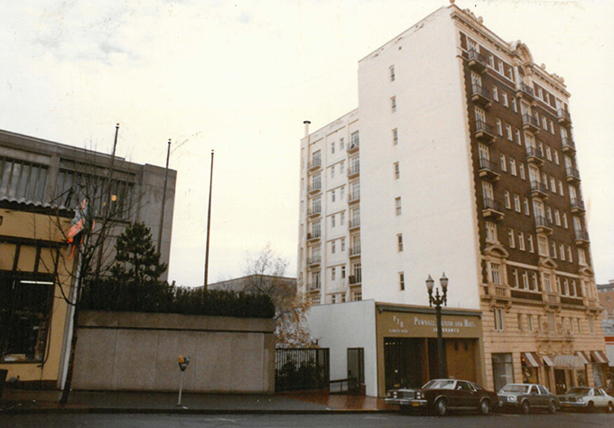 Sovereign Hotel, c. 1984. Photos by George Champlin, org. lot 292