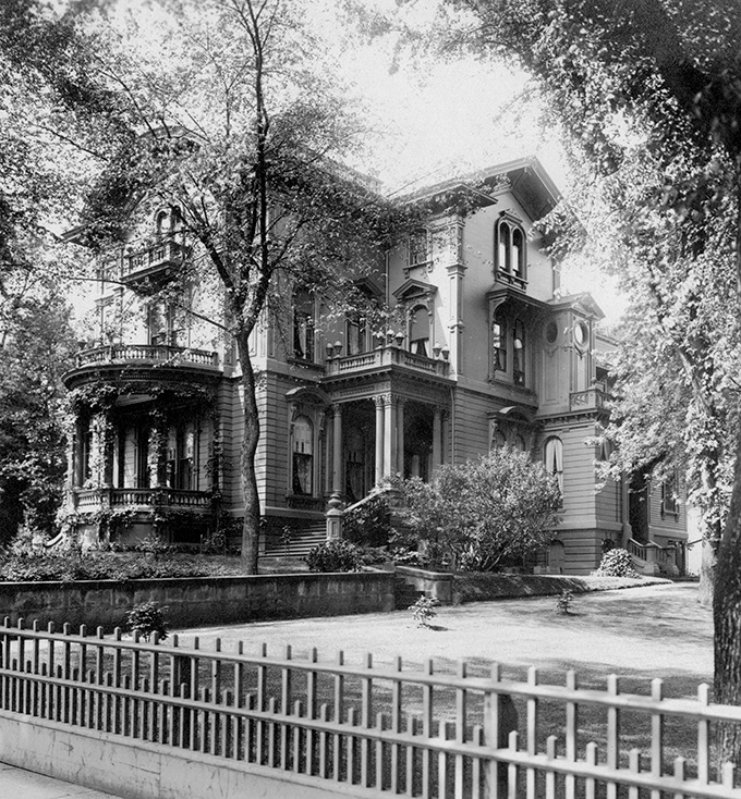 H.W. Corbett house, 1907. OHS Research Library, Kiser Photo Co., bb000429