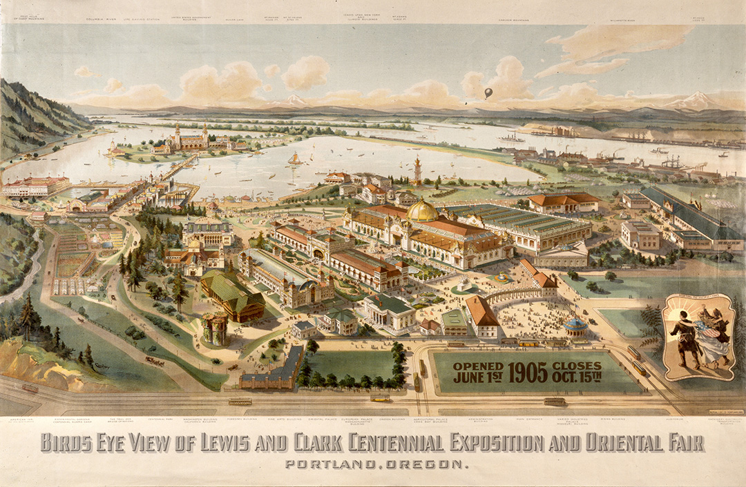 Bird's eye view of the Lewis and Clark Exposition. OHS Research Library, bb006850