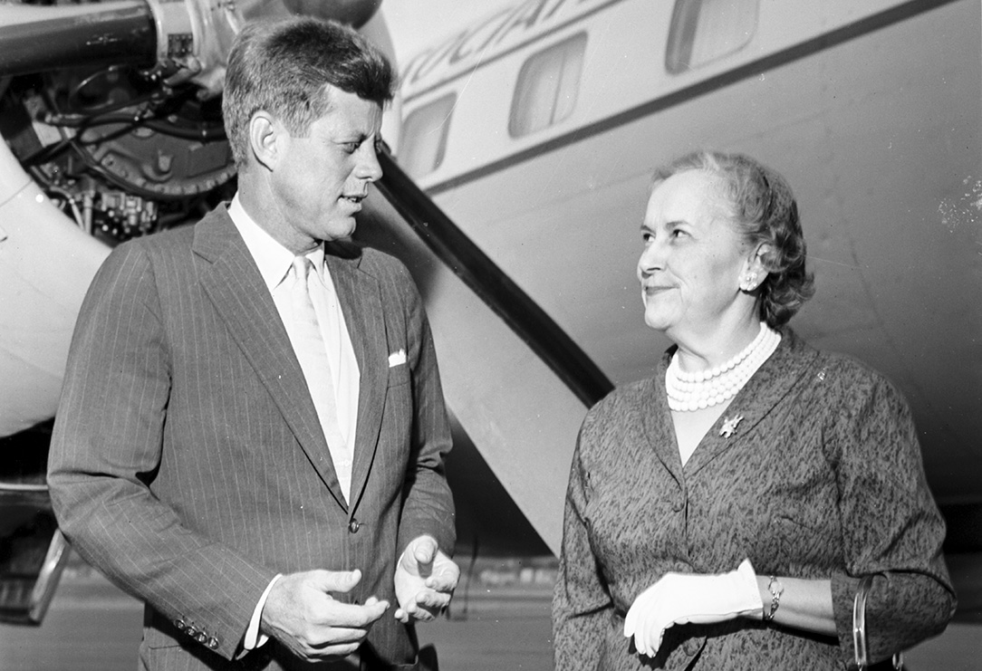 President John F. Kennedy and Edith Green, OHS Research Library, bb015441