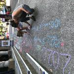 Chalking outside the First Congregational United Church of Christ, Portland, Oregon, photo courtesy of Oregon Women's History Consortium