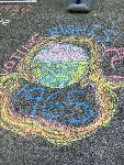 Chalk drawing by Erin Schmith, photo courtesy of Isa Ruelas.