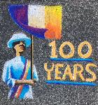 "Elise Alexis's ""100 Years"" chalk drawing, photo courtesy of Cherie Savoie Tintary."