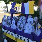 Suffrage display, photos courtesy of Cherie Savoie Tintary.