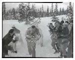 Snowball fight, ca. 1923–1936, Oregon Journal Negative Collection, Org. Lot 1368, Box 374, 374N0488
