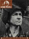 "The cover of the August 13, 1942, cover of the Bo's'n's Whistle, which features a portrait of Mary Carroll wearing a welding mask. The image caption reads, ""War Mother."" OHS Research Library, BosunsWhistle_OSC19420813_0215"
