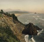Coastal view from Chapman Point, Cannon Beach. Kiser Photo Co. photographs, 1901-1999; bulk: 1901-1927.; Org. Lot 140; b2.f37 ba021252