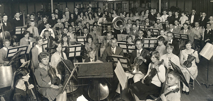 Portland Junior Symphony, 1928. OHS Research Library Oregonian collection
