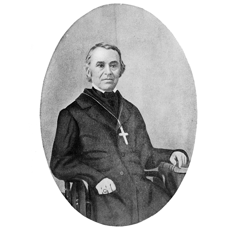 Father Francois N. Blanchet, French Canadian missionary, who established a Catholic mission at St. Paul for the French Indian families then living in French Prairie area Oregon Historical Society Research Library OrHi 61321 & bb004274