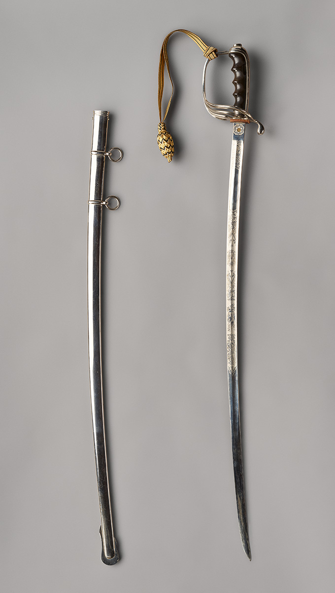 Sword owned by George F. Jeffcott, OHS Museum 70-60.1.1,.2, photograph by Robert Warren.