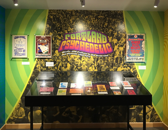 "OHS ""Portland Psychedelic"" exhibit, July 10, 2018, to March 17, 2018."