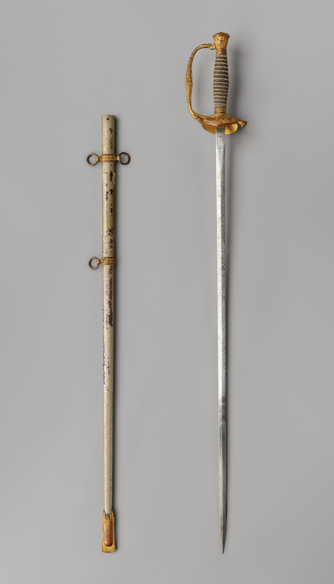 Moy Bow Wing's presentation sword, OHS Museum, 95-95.1.1,.2, photograph by Robert Warren.