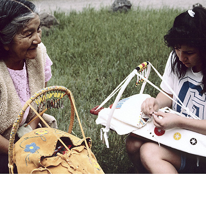 Traditional Klamath Crafts. Photo by Nancy J. Nusz, Oregon Historical Society Folklife Program. P 2-24