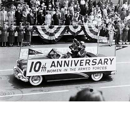 Armed Forces Day parade in Portland, OR. May, 1952. United Services Organizations photograph collection, Org. lot 91, ba018635