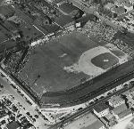 Vaughn Street Park,  Aerial view. Opening Day, April 10, 1951. Largest one-day attendance in City of Portland.  OrHi 85018