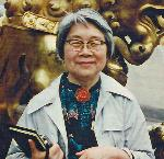 Kwan Hsu, in Beijing, 1987,. From the Kwan Hsu Papers, PSU Archives. Courtesy Portland State University Archives