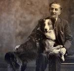 Bobbie and his owner, G. Frank Brazier. Courtesy Vades Crockett, Silverton