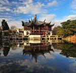 Teahouse at Portland Chinese Classical Garden. Copyright Dan Kvitka Photography