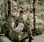 Peter Kerr at Elk Rock Gardens, about 1925.