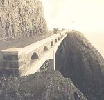 Highway 101 on Cape Perpetua, 1938. OHS Research Library, 991D070