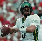 Joey Harrington playing in 2000 for the University of Oregon Football team. Photo Courtesy of Eric Evans/Oregon Media Services