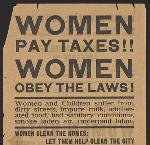 Votes for Women flier. OHS Research Library, Women collection, circa 1899-1950; Mss 1534; Box 1; Folder 1