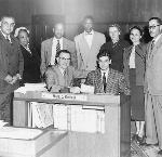 Signing Oregon's Civil Rights Bill, 1953. OrHi 44402.
