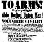 Recruiting poster for  the First Oregon Cavalry, October 10, 1861. OHS Research Library, Belknap 621.