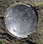 Survey marker for the Willamette Meridian at Willamette Stone State Park, Washington and Multnomah Counties. Oregon Parks and Recreation
