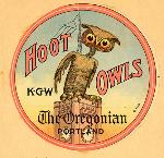 Hoot Owls original car sticker, Mss 2512-2