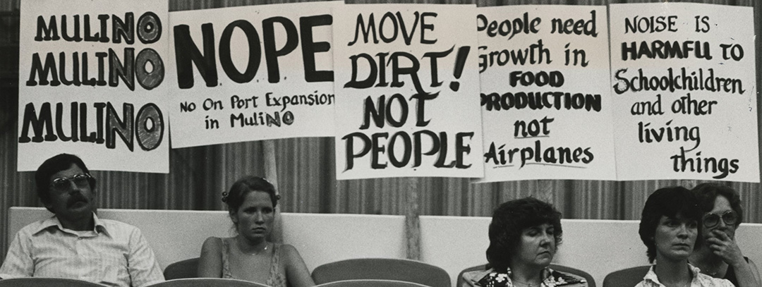 Protest against Port of Portland airport expansion, July 1980