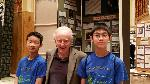 Geoffrey Gu and Felix Tse with Dr Franklin Portugal, June 15, 2016