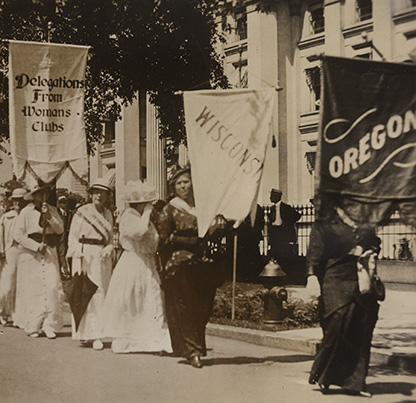National suffrage parade in Washington, D.C. with women from Oregon, Library of Congress, National Woman's Party Records, Group I, Container I:159, Folder: Campaign of 1913