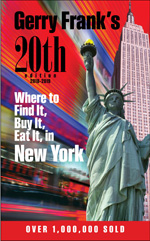 Gerry Frank's Where to Find It, Buy It, Eat It in New York, 20th Edition