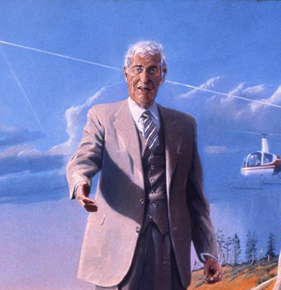 Portrait of Tom McCall by Henk Pander, 1982, Oregon State Capitol Collection