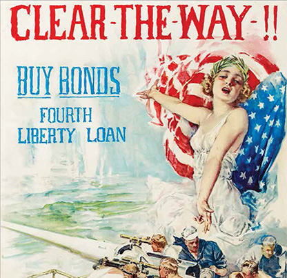"WWI ""Clear-The-Way!"" Howard Chandler Christy war bond poster. (1918)"
