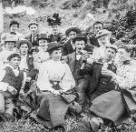 Men and women picnicking and drinking beer, 1895, OHS Research Library, 003774