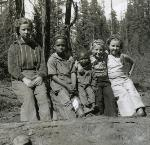 Maxville youth pose between chores for a photograph in about 1937. Photo courtesy of MHIC Hug collection.
