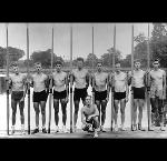 The 1936 US Olympic 8-oared crew rowing team, from the University of Washington Huskies, the subject of March speaker Daniel James Brown's book,
