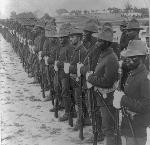 Formation of Black soldiers, after Spanish-American War, c1899. Library of Congress Prints and Photographs Division, LC-USZ62-41594