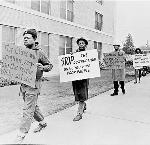Albina Residents Picket the Portland Development Commission, 1973. OHS Research Library, CN 023743