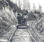 Workers on the Oregon Pacific Railroad. OHS Research Library, OrHi50082